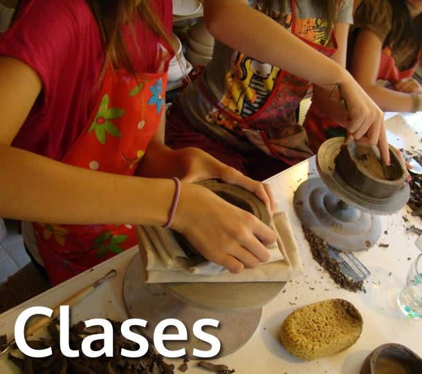 Clases para niños y adultos de alfarería y pintura sobre cerámica y porcelana
